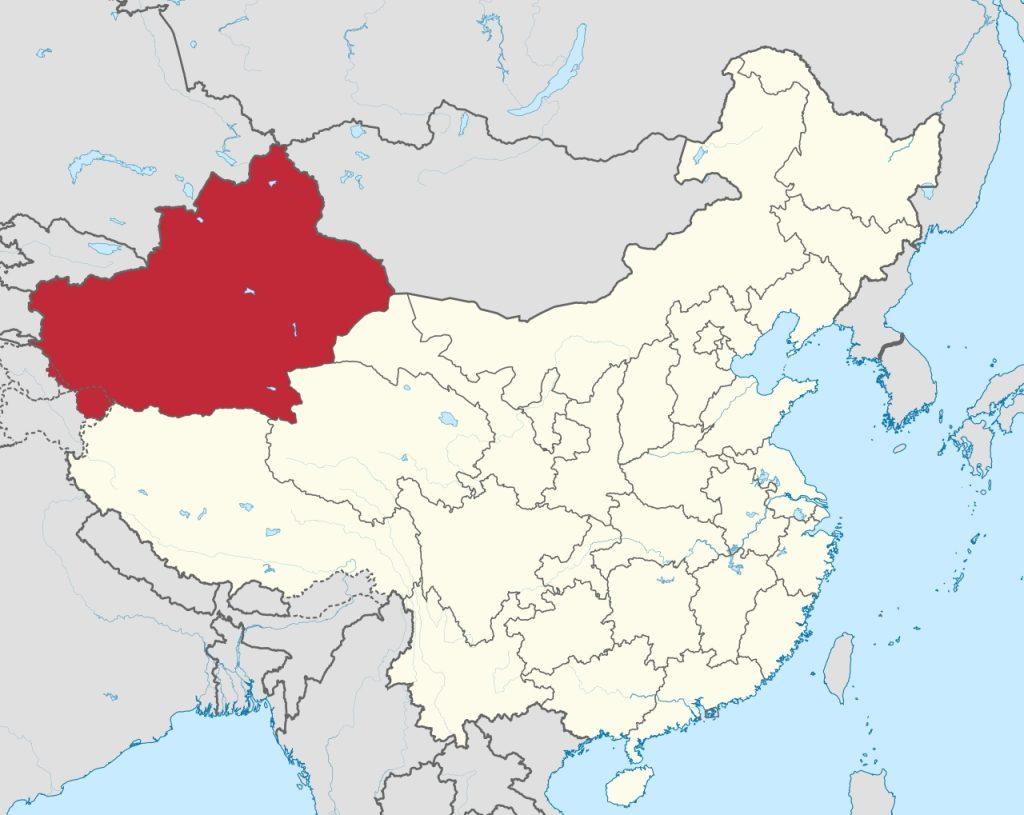Mappa dello Xinjiang