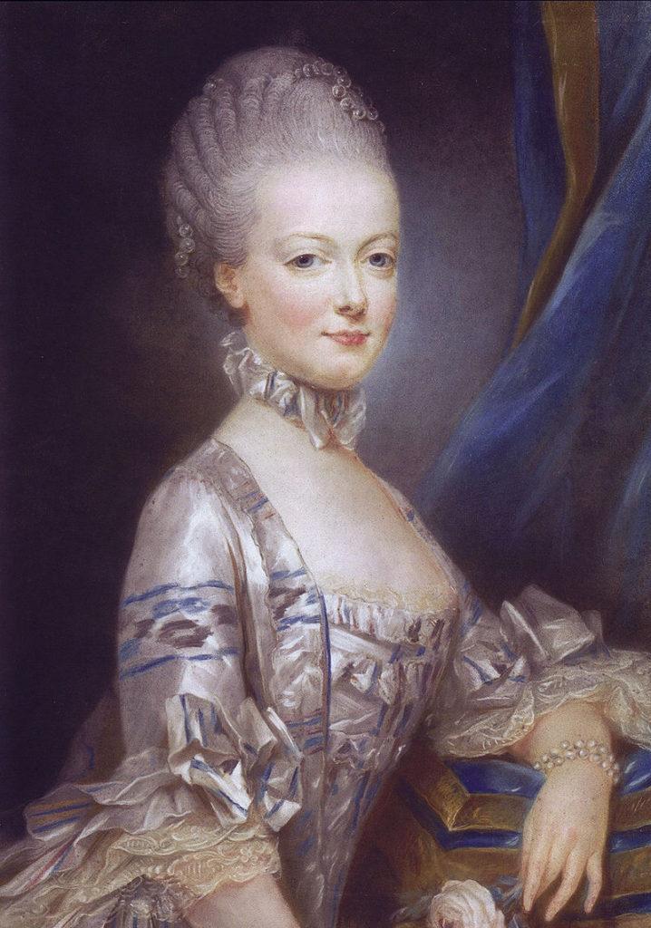 Maria Antonietta a quattordici anni, ritratto ufficiale inviato a Versailles (Joseph Ducreux, 1769).