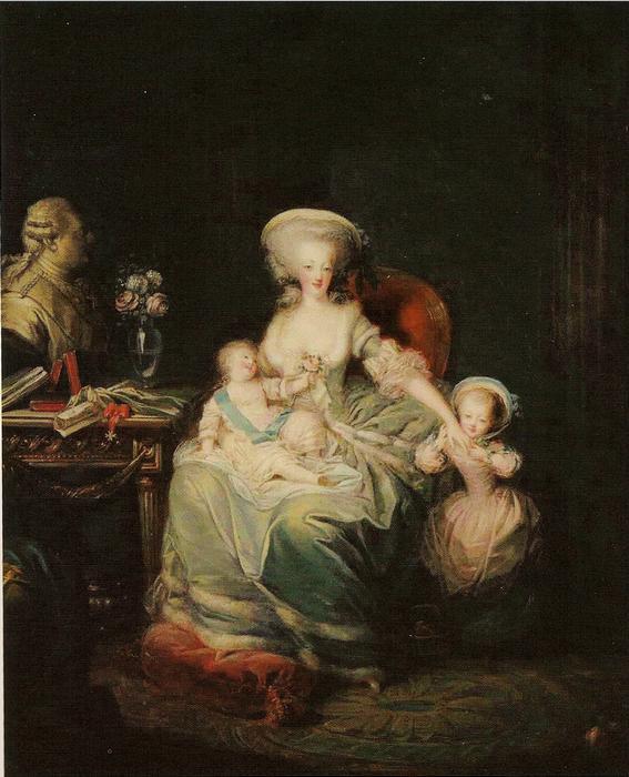 Maria Antonietta con i figli (Charles Le Clercq, 1781).