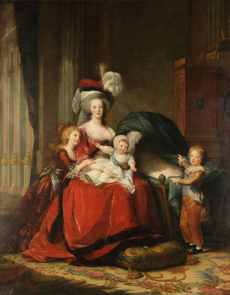 Maria Antonietta con i figli (Elizabeth Vigée Le Brun, 1787).