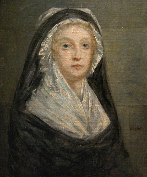 Ritratto di Maria Antonietta alla Conciergerie.