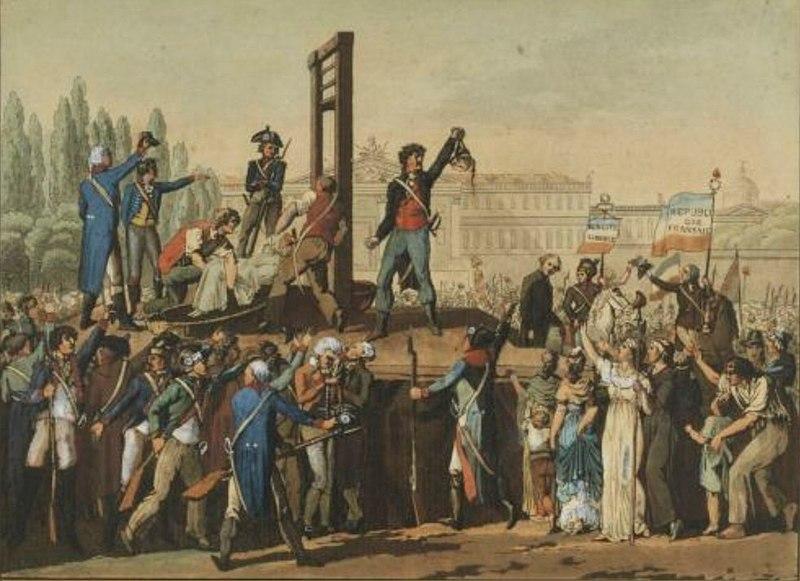 Esecuzione di Maria Antonietta (Museo della Rivoluzione Francese).