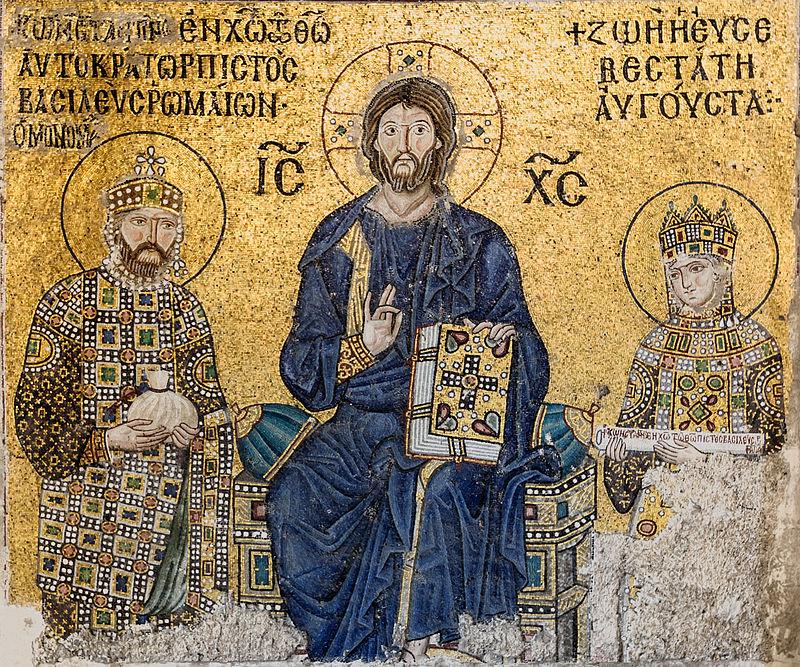Mosaico dell'imperatore Costantino IX e della Basilissa Zoe