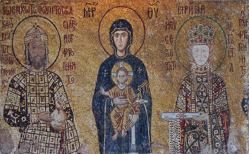Mosaico dell'imperatore Giovanni II Comneno e della moglie Piroska