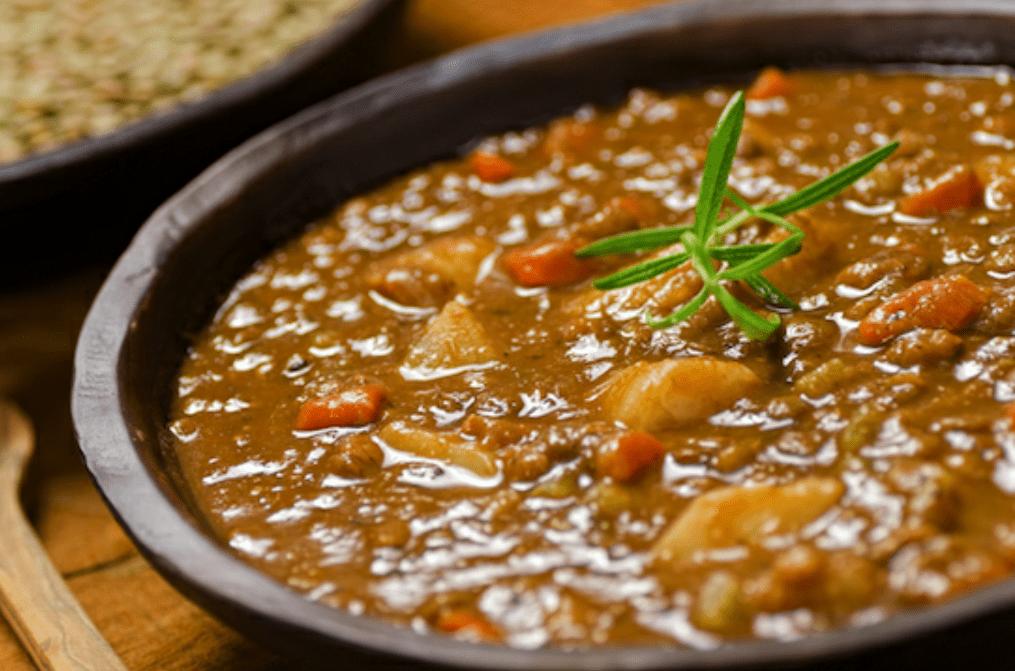 Zuppa di lenticchie e patate