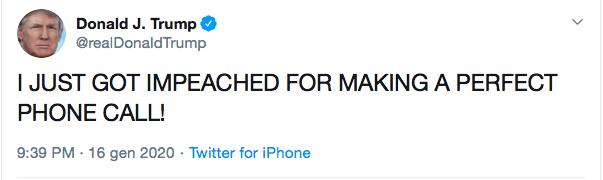 Trump impeachment tweet