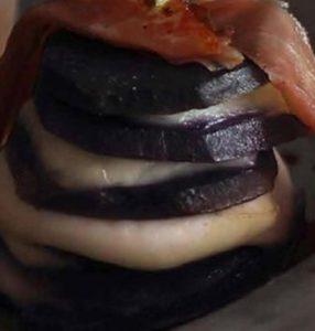 La patata giusta : Millefoglie di patate viola