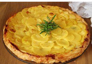 La patata giusta:tarte tatin di patate all' aglio