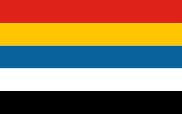 Bandiera a cinque colori