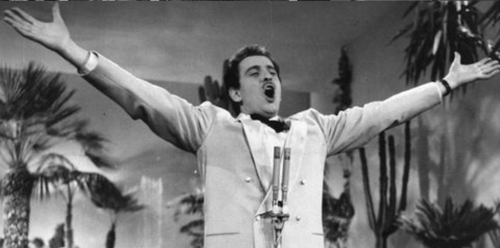 Domenico Modugno al festival di Sanremo