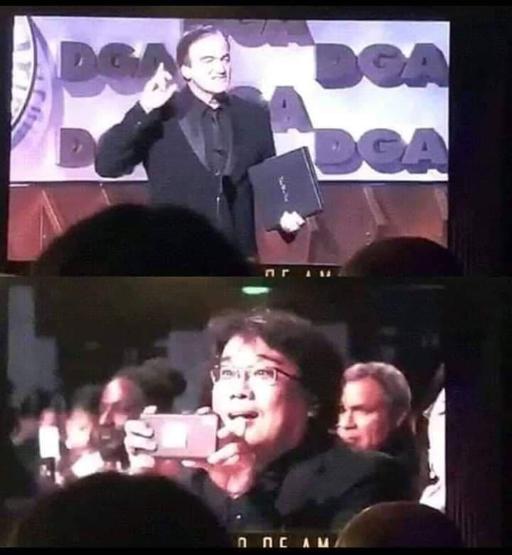 Oscar 2020: Bong Joon-ho scatta foto a Tarantino