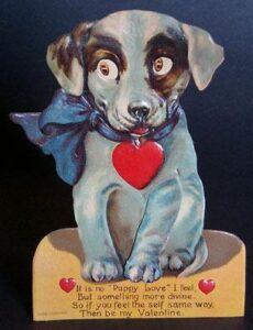 Cartolina per la festa degli innamoratiVenti del Novecento