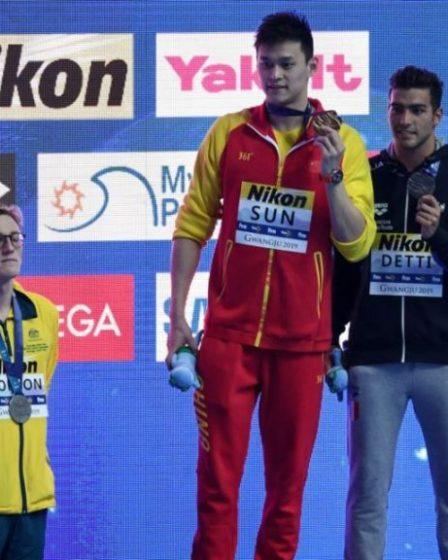 Sun Yang podio