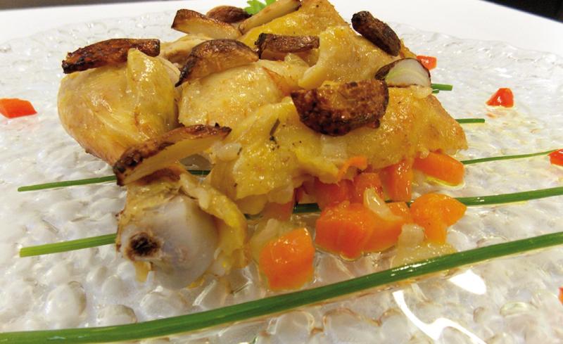 Cosce di pollo all'aglio