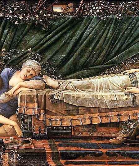 "ALT=""La bella addormentata Edward burne jones"