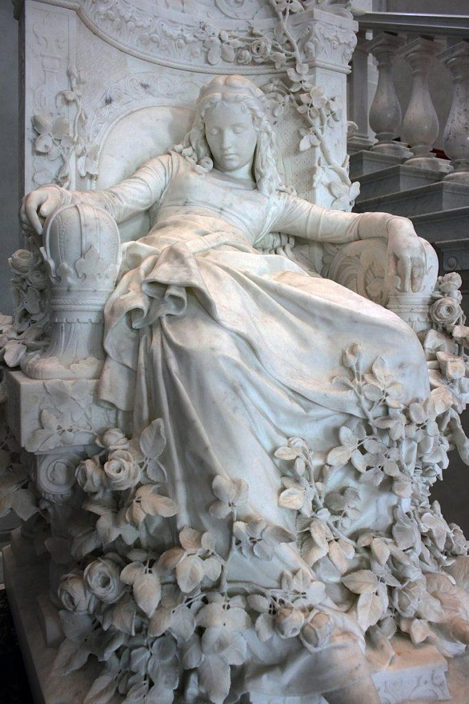 La bella addormentata, Louis-Sussmann Hellborn, Alte Nationalgalerie, Berlino