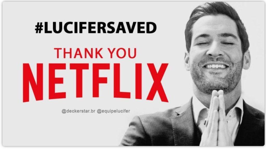 Post di ringraziamento di Lucifer serie tv