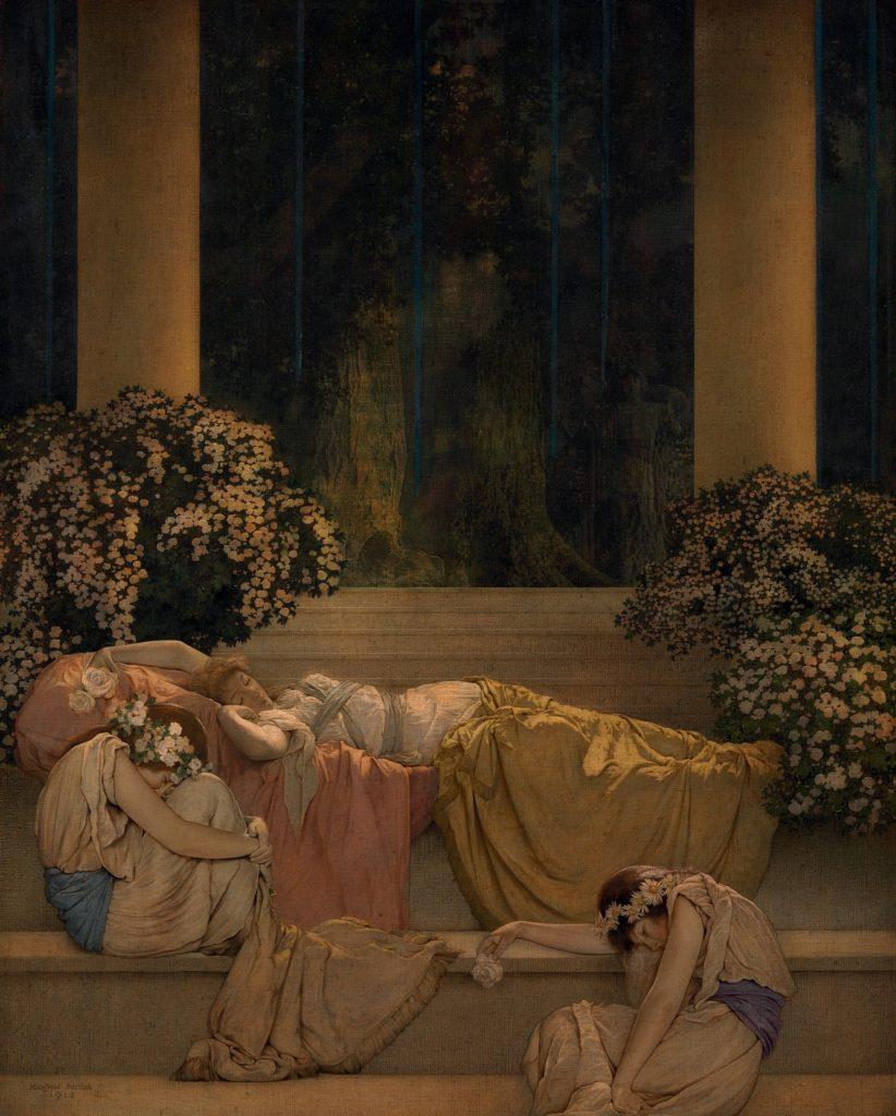 "ALT=""La bella addormentata Maxfield Parrish"""