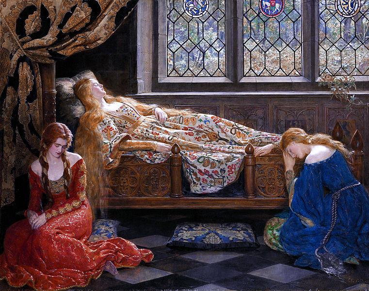 """ALT=""""La bella addormentata John Collier"""""""