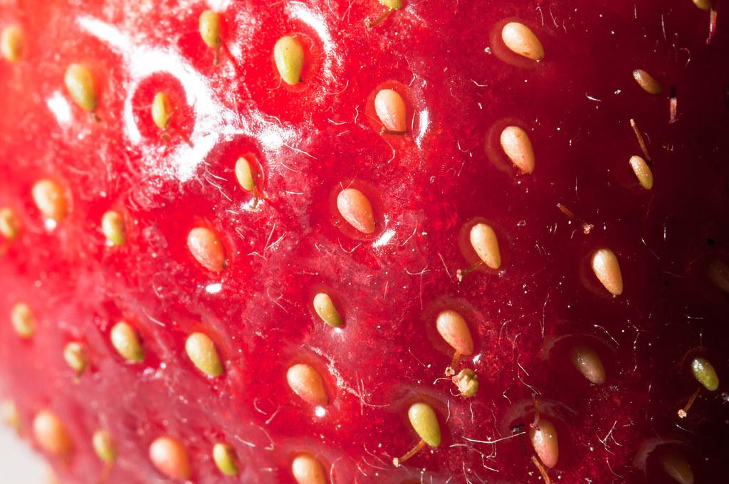 acheni delle fragole in dettaglio