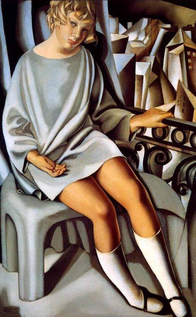 "ALT=""Tamara De Lempicka Kizette on balcony"""