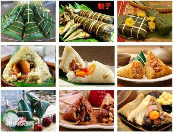 Gli zongzi, piatto tipico della festa delle barche drago