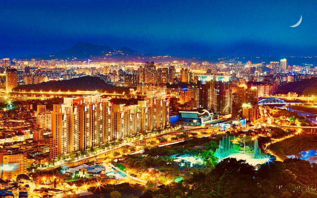 Skyline di Nuova Taipei a Taiwan