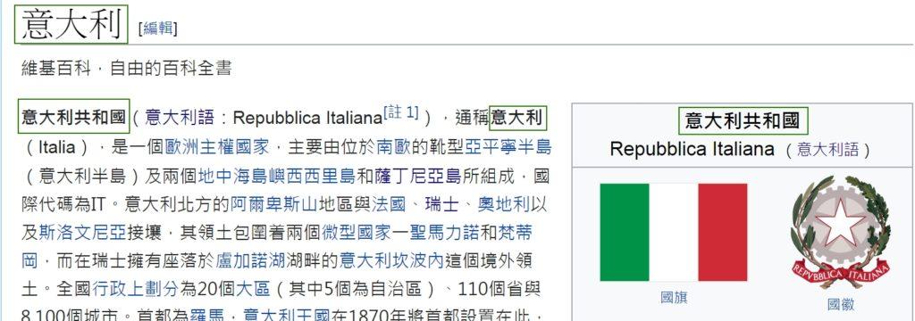 Pagina dell'Italia (意大利) - Hong Kong