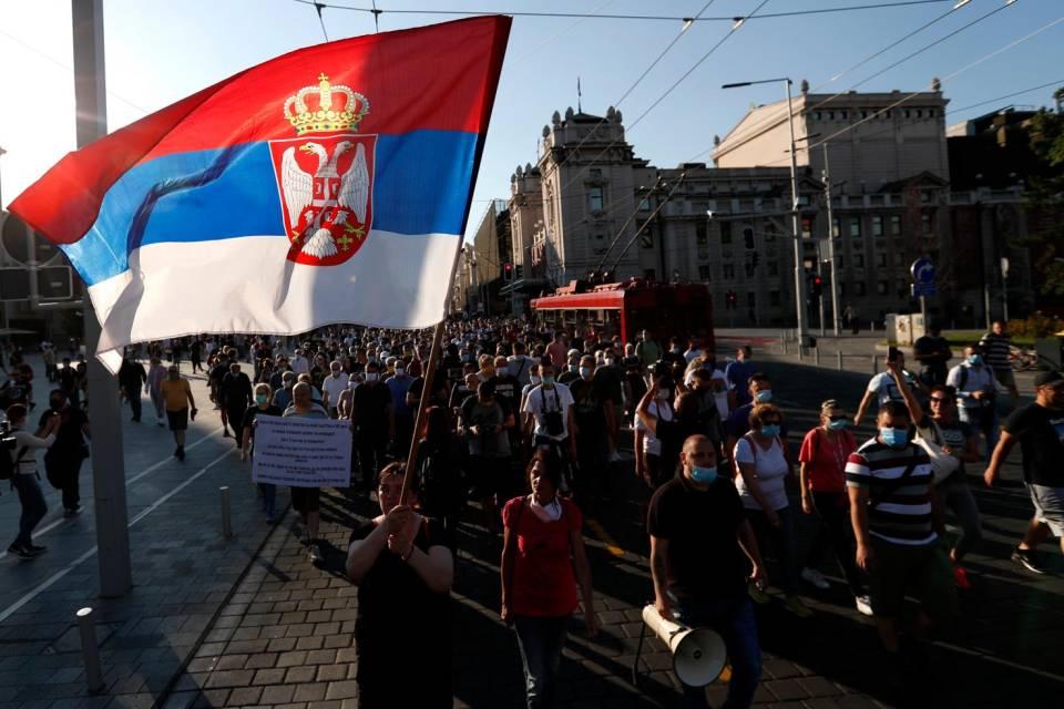 proteste in Serbia