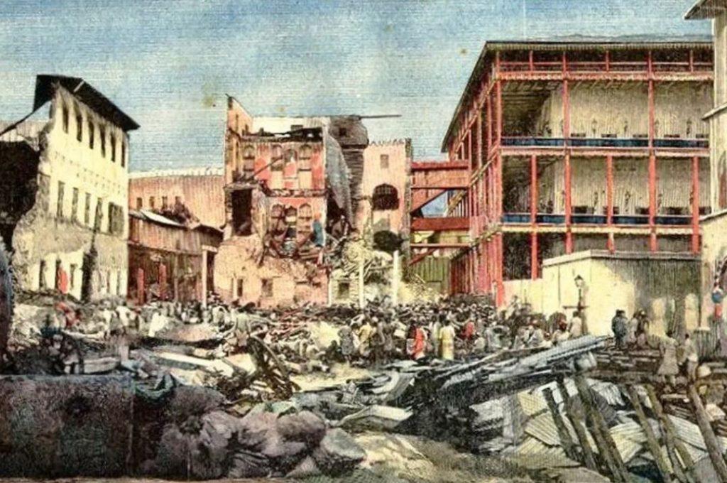 Guerre più curiose - guerra di Zanzibar dipinto