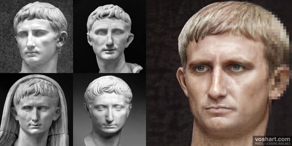 """ALT=""""Imperatori di Roma Augusto Voshart"""""""