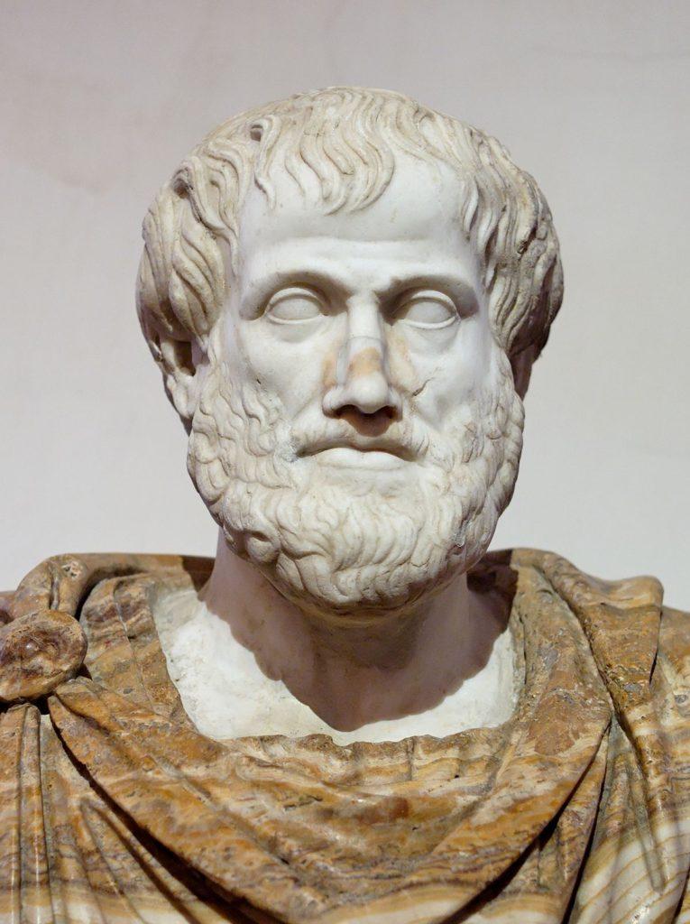 Medicina Greca ed Ellenistica: busto di Aristotele.