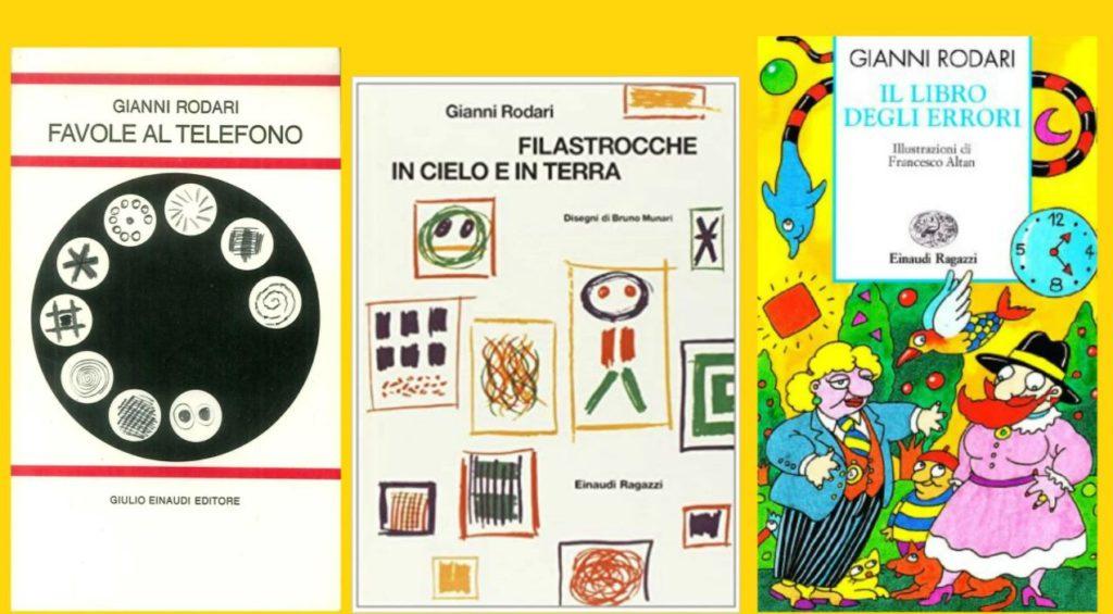 Libri di Gianni Rodari - Filastrocche in cielo e in terra, Favole al telefono, Il libro degli errori