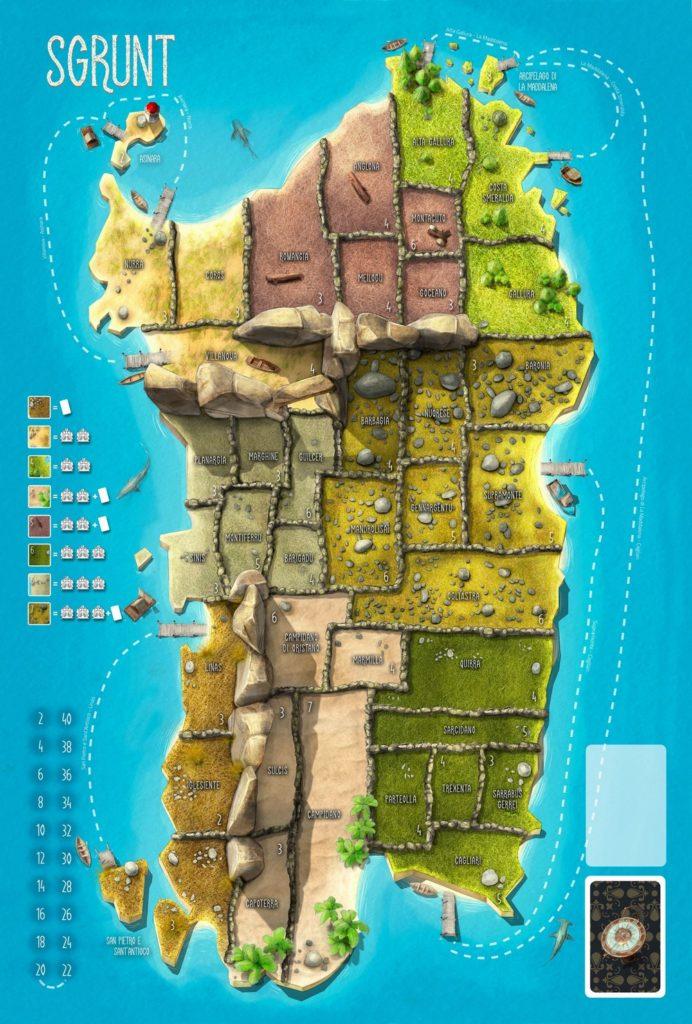 Sgrunt - Conquista la Sardegna - Tabellone