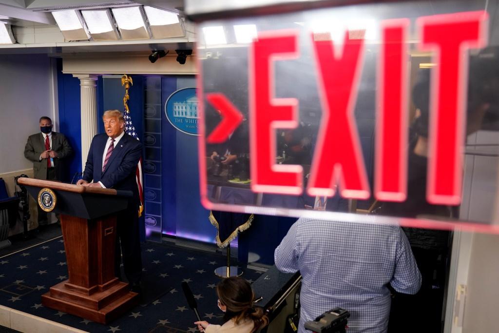 Biden-Trump exit