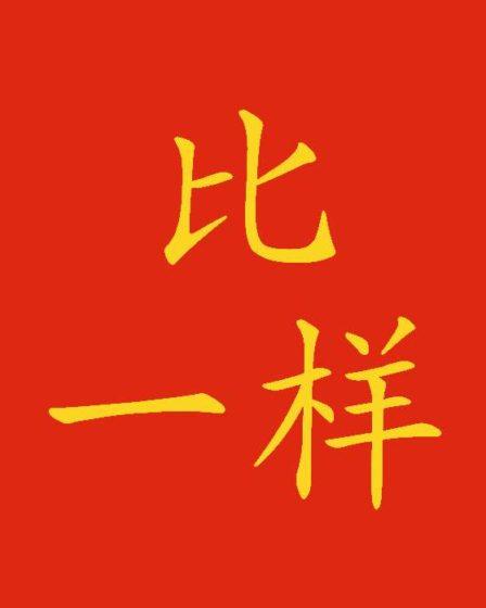 Confronto in cinese: 比 e 一样