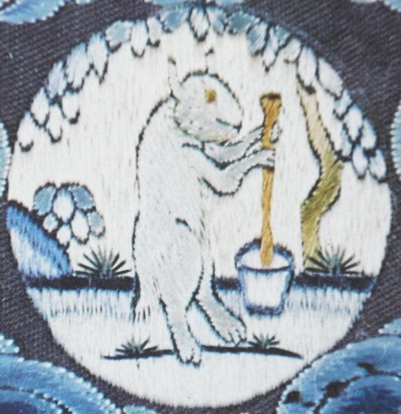Coniglio lunare prepara elisir di lunga vita