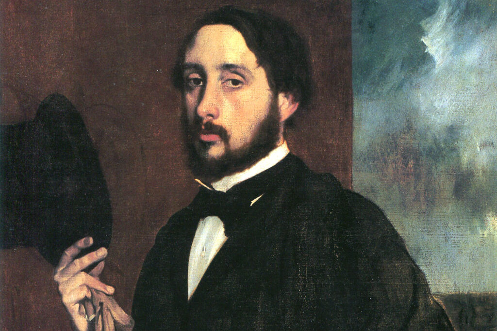 "ALT=""Edgar Degas autoritratto"""