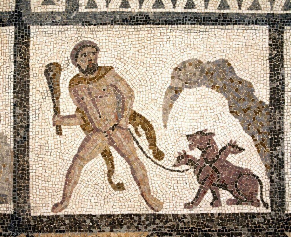 Ercole contro Cerbero - mostri mitologici
