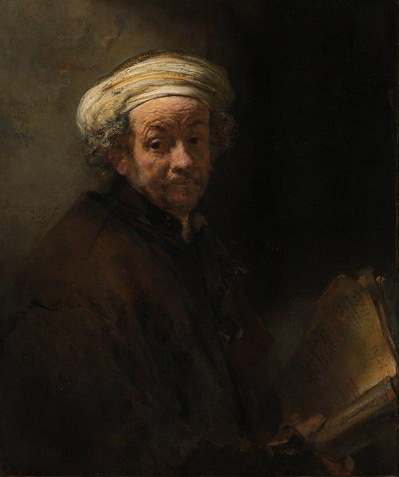 """""""Autoritratto come l'apostolo San Paolo"""", Rembrandt, 1661 (Palazzo Corsini, Roma)"""