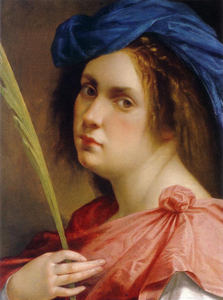 """""""Autoritratto come martire"""", Artemisia Gentileschi, 1615 (collezione privata, New York)"""