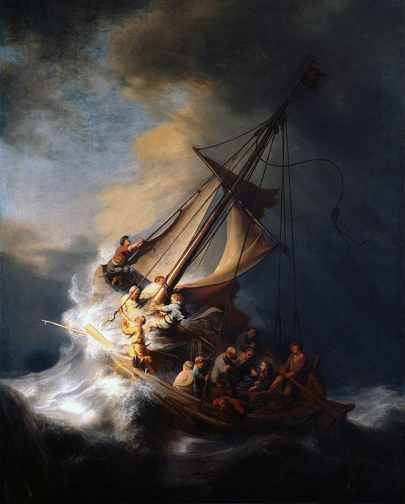 """""""Cristo nella tempesta sul mare di Giudea"""", Rembrandt, 1663 (scomparso)"""