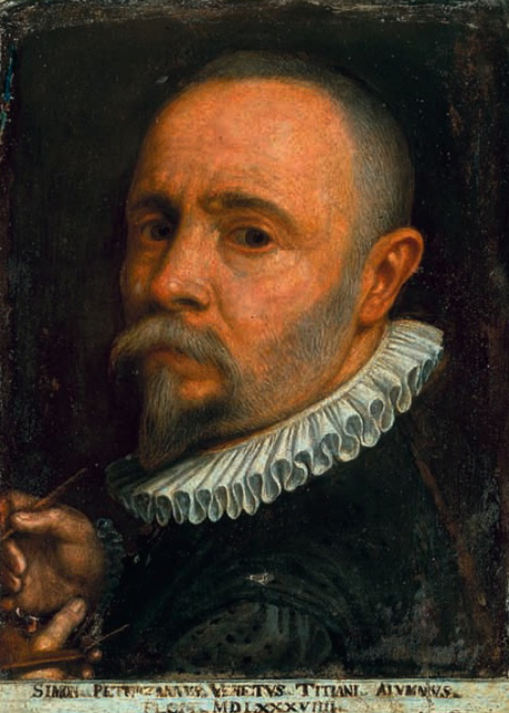 """Autoritratto"", Simone Peterzano (1589)"