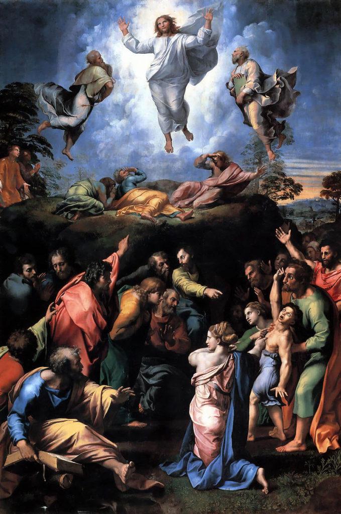 """Mostra - """"Trasfigurazione"""", Raffaello, 1520 (Pinacoteca vaticana, Città del Vaticano)"""