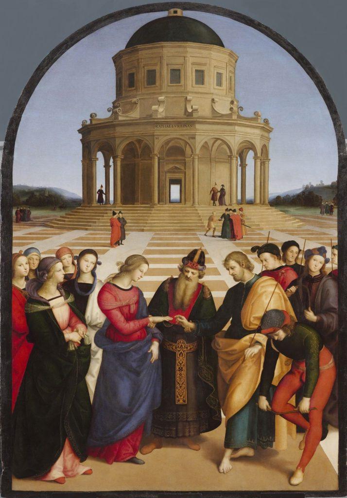 """""""Lo sposalizio della vergine"""", Raffaello, 1504 (Pinacoteca di Brera, Milano)"""