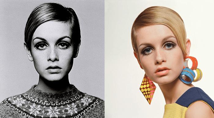 Il make up di Twiggy anni '60