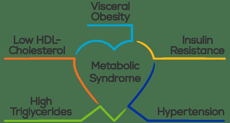Criteri di diagnosi della sindrome metabolica.