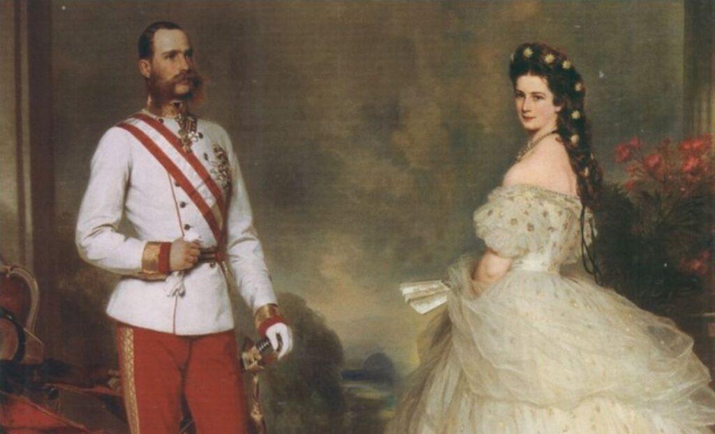 Amore entra a corte: Franz Joseph ed Elisabetta di Baviera ritratto