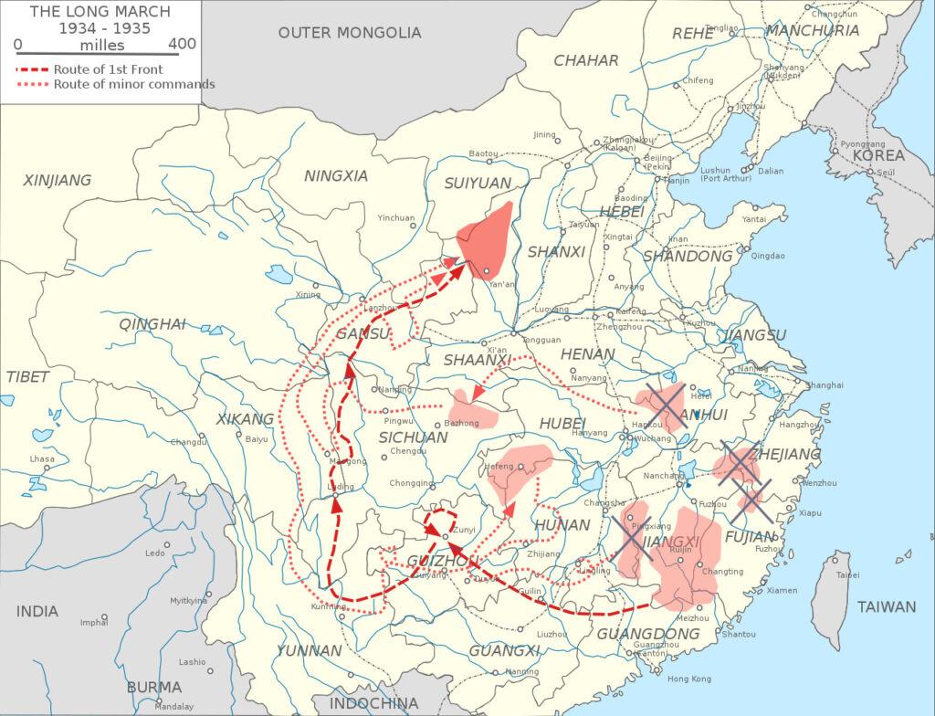 """La """"lunga marcia"""" del partito comunista cinese"""